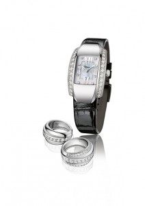 Chopard La Strada white gold watch and rings white