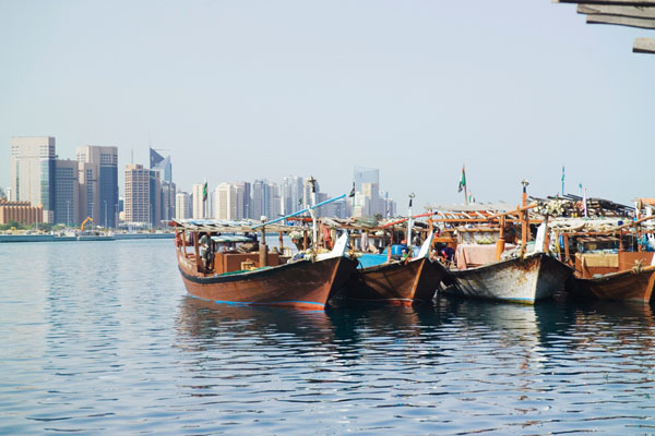 Dhows on the Abu Dhabi Corniche