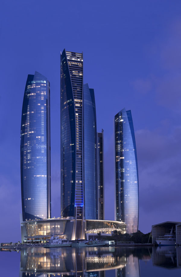 Jumeirah at Etihad Towers Tel.- +971 2 811 5555 Fax- +971 2 811 5588 Website- www.jumeirah.com